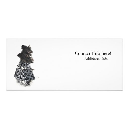Doggy In Dress with Bow Rack Card Template