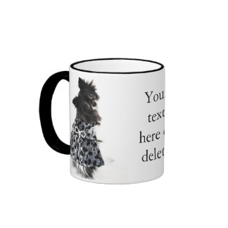 Doggy In Dress with Bow Ringer Mug