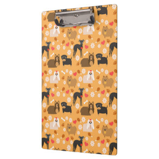 Doggy Lover Pattern Clipboard
