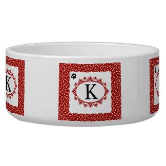 Doggy Monogram K Bowl