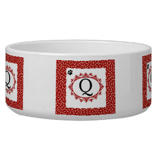 Doggy Monogram Q Bowl