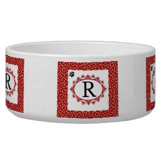 Doggy Monogram R Bowl