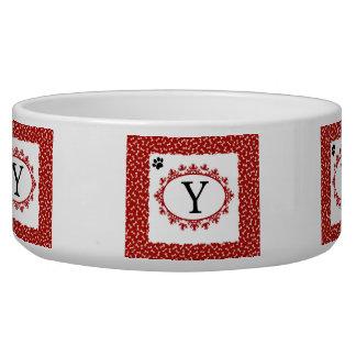 Doggy Monogram Y Bowl