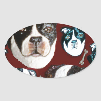 doggy oval sticker