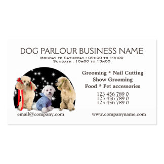 Doggy parlour dog grooming PERSONALIZE Business Card Templates