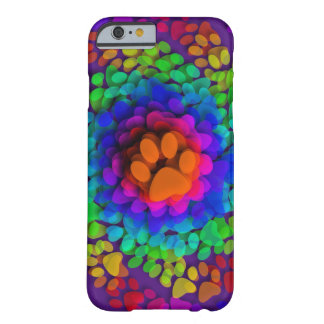 Doggy Paws Palm Prints Rainbow Barely There iPhone 6 Case