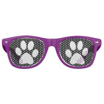 Doggy Paws Prints Retro Sunglasses