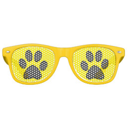 Doggy Paws Prints Retro Sunglasses