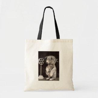 Doggy Radio Star Tote Bag
