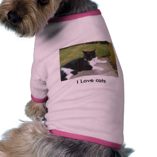 doggy shirt for cat lovers dog tee