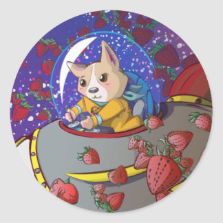 Doggy Space Mission Sticker