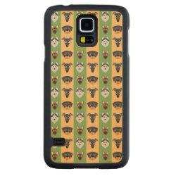 Carved ® Samsung Galaxy S5 Slim Wood Case with Greyhound Phone Cases design