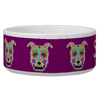 Doggy sugar skull bowl - customizable