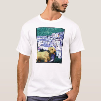 "Doggy Tee ""Doggy Goes to an Italian Village"""