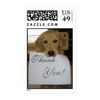 Doggy Thank You Postage Stamp