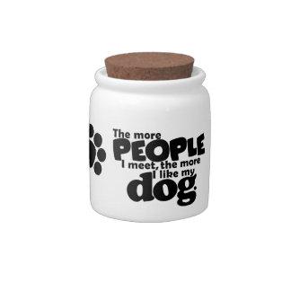 doggy treat Jar Candy Dish
