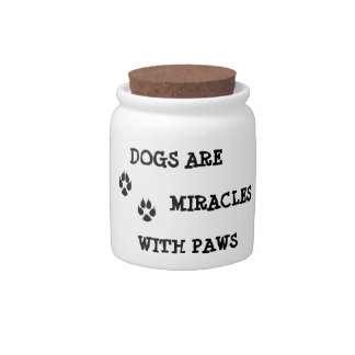 Doggy treat jar candy jars