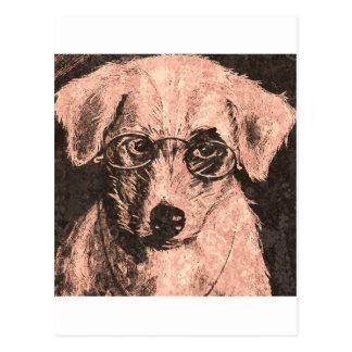 Doggy vision postcard