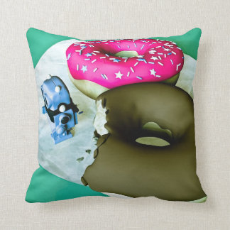 Doghnuts and Toy Robot American MoJo Pillows