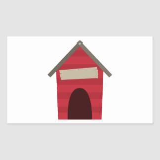 Doghouse Blank Caption Rectangular Sticker