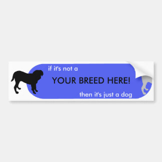 """Dogism's Customize """"Just a Dog"""" Orange Bumper Stickers"""