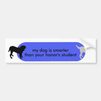 """Dogism's """"Not to Brag"""" Orange Bumper Sticker"""
