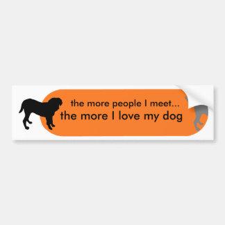 """Dogism's """"True Love"""" Orange Car Bumper Sticker"""