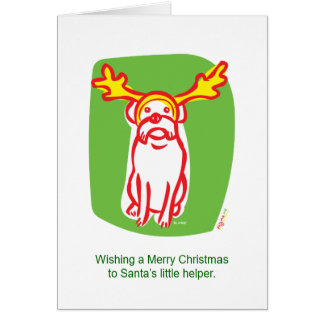 DOGMA reindeer dog Card