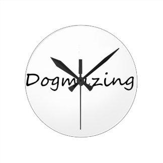dogmazing round clock
