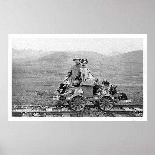 Dogmobile Trip Alaska 1912 Poster