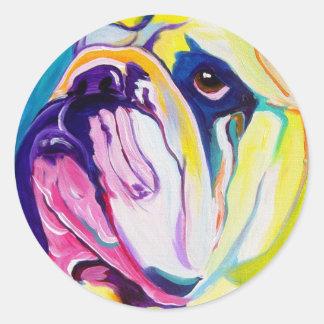 Dogo #1 pegatinas redondas