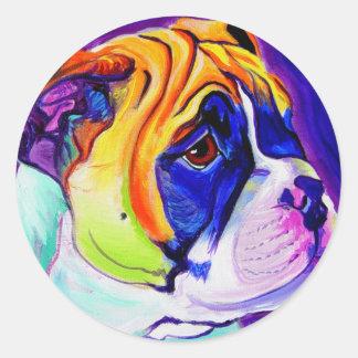 Dogo #3 etiqueta redonda