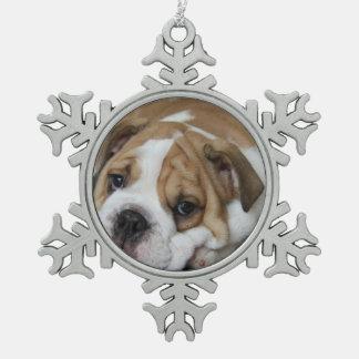 Dogo Adorno De Peltre En Forma De Copo De Nieve
