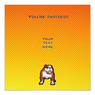 """Dogo amarillo invitación 5.25"""" x 5.25"""""""