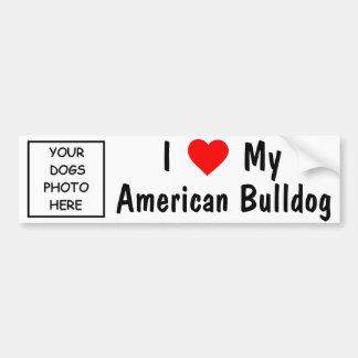 Dogo americano etiqueta de parachoque