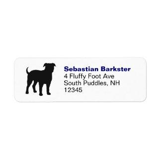 Dogo americano etiqueta de remitente