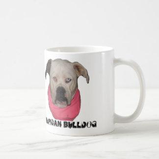 Dogo americano tazas de café
