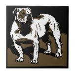 Dogo animal del práctico de costa del grabar en ma azulejo