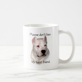 Dogo Argentino Anti-BSL Classic White Coffee Mug