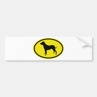 Dogo Argentino Etiqueta De Parachoque