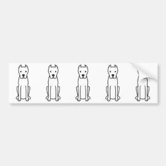 Dogo Argentino Pegatina De Parachoque