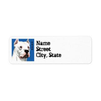 Dogo Argentino Color Block Return Address Label