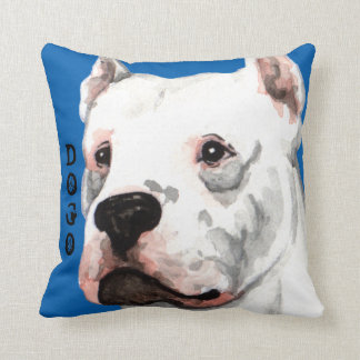 Dogo Argentino Color Block Throw Pillow