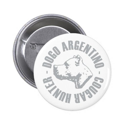 DOGO ARGENTINO COUGAR HUNTER 2 INCH ROUND BUTTON