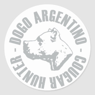 Dogo Argentino Cougar Hunter Classic Round Sticker