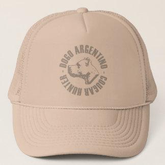 dogo argentino cougar hunter trucker hat