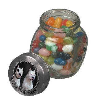 Dogo Argentino dog Glass Jars