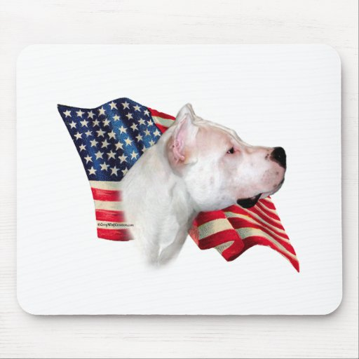Dogo Argentino Flag Mouse Pad