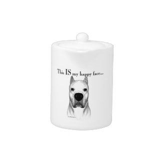 Dogo Argentino Happy Face Teapot