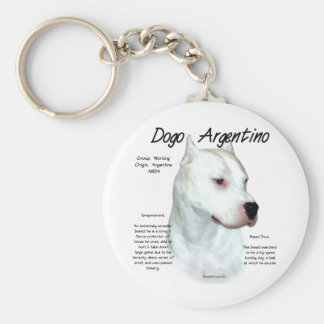 Dogo Argentino History Design Keychains